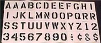 "3"" REUSABLE ALPHANUMERIC STENCIL SET"