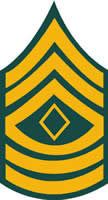 ARMY 1ST SERGEANT DECAL