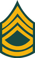 ARMY SERGEANT FIRST CLASS RANK DECAL