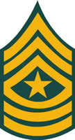 ARMY SERGEANT MAJOR RANK DECAL