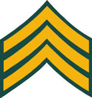ARMY SERGEANT RANK DECAL