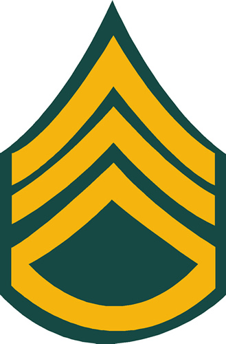 ARMY STAFF SERGEANT DECAL