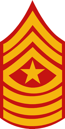 USMC SERGEANT MAJOR RANK DECAL