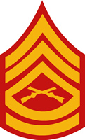USMC GUNNERY SERGEANT RANK DECAL