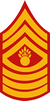USMC MASTER GUNNERY SERGEANT RANK DECAL