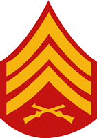 USMC SERGEANT RANK DECAL