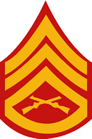 USMC STAFF SERGEANT RANK DECAL