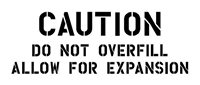 WWII JEEP FUEL CAUTION - 3 LINES