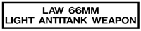 LAW 66MM DECAL