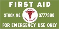 FIRST AID KIT LETTERING