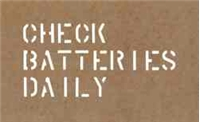 THREE LINE CHECK BATTERIES DAILY