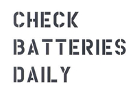3 LINE CHECK BATTERIES DAILY