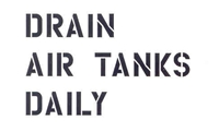 3 LINE DRAIN AIR TANKS DAILY