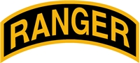 RANGER DECAL - GOLD ON BLACK