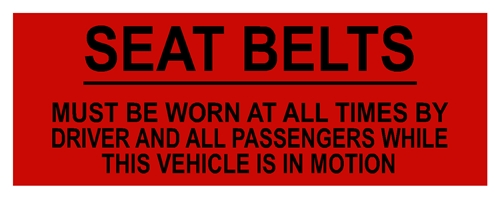 RED SEAT BELT WARNING