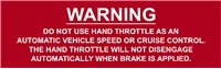 THROTTLE WARNING
