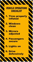 VEHICLE OPERATIONS CHECKLIST