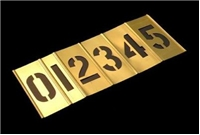 1 Inch Inter Locking Brass Stencil Set - 15 Pieces
