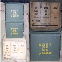2-.50Cal AMMO CANS with SHIPPING CRATE