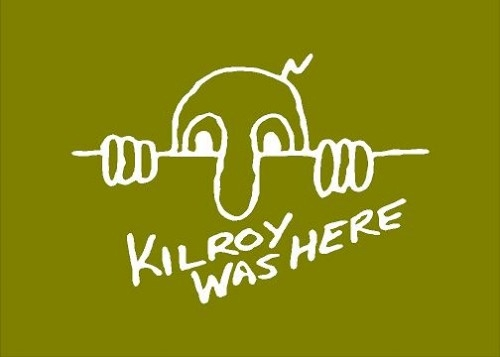 KILROY WAS HERE DECAL