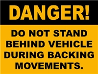 BACK UP WARNING DECAL