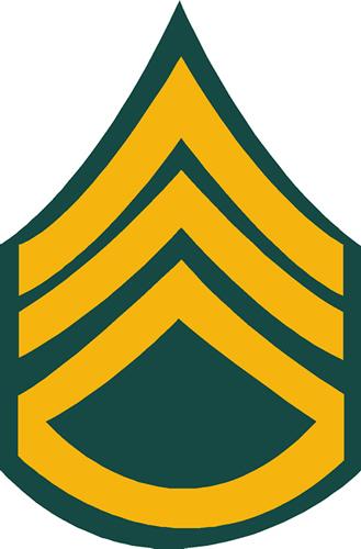 ARMY STAFF SERGEANT DECAL