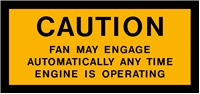 FAN CAUTION