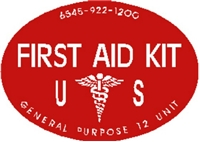 FIRST AID KIT DECAL