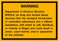 DRUGS AND ALCOHOL WARNING