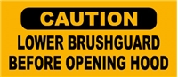 2 BRUSHGUARD WARNING DECALS