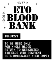 ETO BLOOD BANK PAINT MASK STENCIL SET