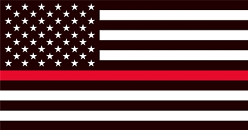 "THIN RED LINE FLAG - 3"" x 5.75"""